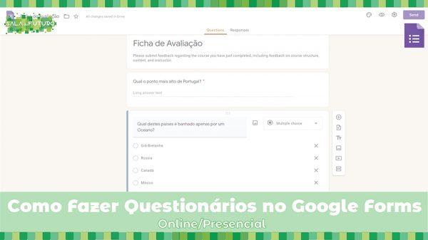 Como fazer questionários no Google Forms