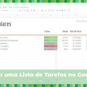 Workshop: Como fazer uma lista de tarefas no Google Sheets